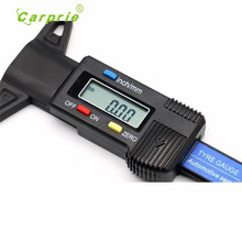 Digital LCD Depth Gauge Car Tyre Tire Tread Brake Pad Shoe Pad Wear 0-25mm Tabela de codigos Tabla de codigos new hot 17june26