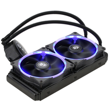 VTG240 Fan Liquid Freezer Water Liquid Cooling System CPU Cooler Fluid Dynamic Bearing 120mm Dual Fans with Blue LED Light(China)