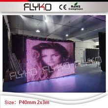 flash image gif edit programs display P4 video vision curtain screen 2m*3m wedding church dj stage decor(China)