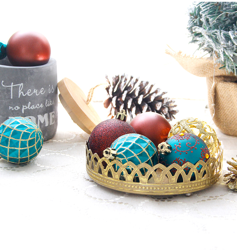 10 inhoo 6cm Christmas tree decorations Balls Ornaments Pendant 20pcs Red green white gold Ball Accessories For Home Xmas Party Hot