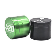 New Arrival 4 Type Logo Multicolor 4 Parts Dia. 50MM Aluminum Herb Grinder Tobacco Crusher Pen Herb/Spice Grinder Millers