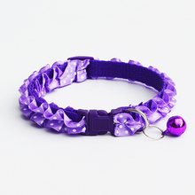 2017 New Fashion Lace Pet Dog Puppy Cat Collars Dot Pattern Adjustable Pet Neck Chain With Bell Pet Collar for Small dogs Cats(China)