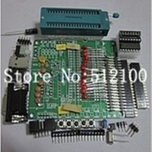 free shipping 10SET DIY learning board kit suit the parts 51/AVR microcontroller development board learning board STC89C52(China)
