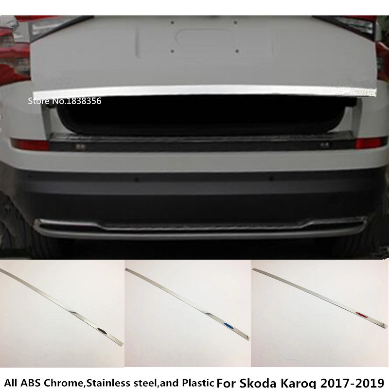 Outer Inner Rear Sill Bumper Cover Plate 3pcs For Skoda Kodiaq 2016-2018