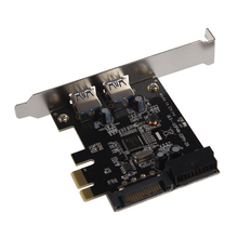 SuperSpeed 2-Port USB 3.0 PCI-E PCI Express Card and 19-pin USB3.0 with 4-pin/15-pin SATA Connector for Digital Products