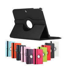 Case for Samsung Galaxy Tab 4 T530 T531 T535 10.1, GARUNK 360 Rotating Flip Protective Solid PU Leather Tablet Cover for SM-T530