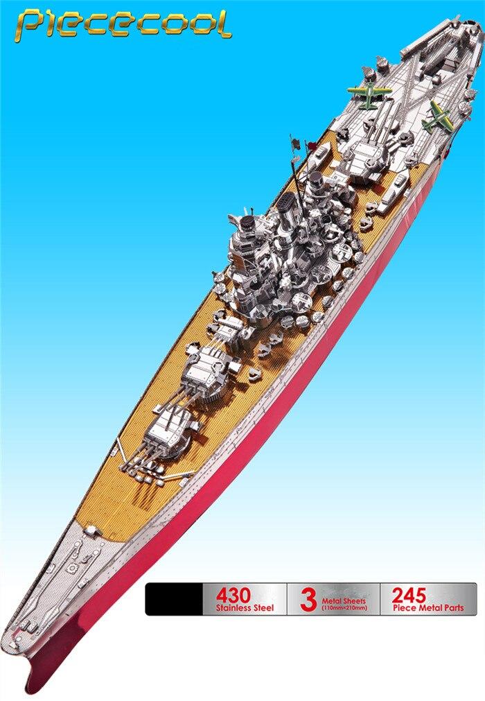 3д модель сборная модель линкора Yamato