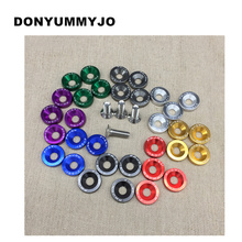 10PCS M6x20 Car Styling Universal Modification JDM Sticker 3D Stickers Decals Fender Washer License Plate Bolts Auto Accessories(China)