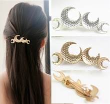 hair accessories for women tiara moon metal hair clip accessoire serre tete cheveux femme hairpins head hair jewelry