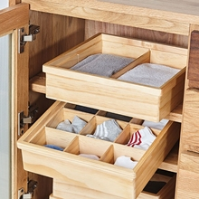 Wooden Clothing Storage Box Eco No Paint Magic Movable Drawer Organizers 6 Slots 9 Slots Underwear/Socks Wardrobe Storage