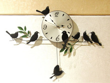 2016 Direct Selling Limited 12 Mm Sheet Reloj Clocks Long Term Supply Of Simple Wall Clock Pendulum Wholesale Iron Bird Garden