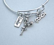 12pcs Cheerleader Charm Bangle Cheer Bracelet Cheerleader Gift(China)
