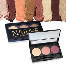 3 Colors Shimmer Matte Eye Shadow Makeup Palette Face Camouflage Body Foundation eyeshadow Eye Cosmetic
