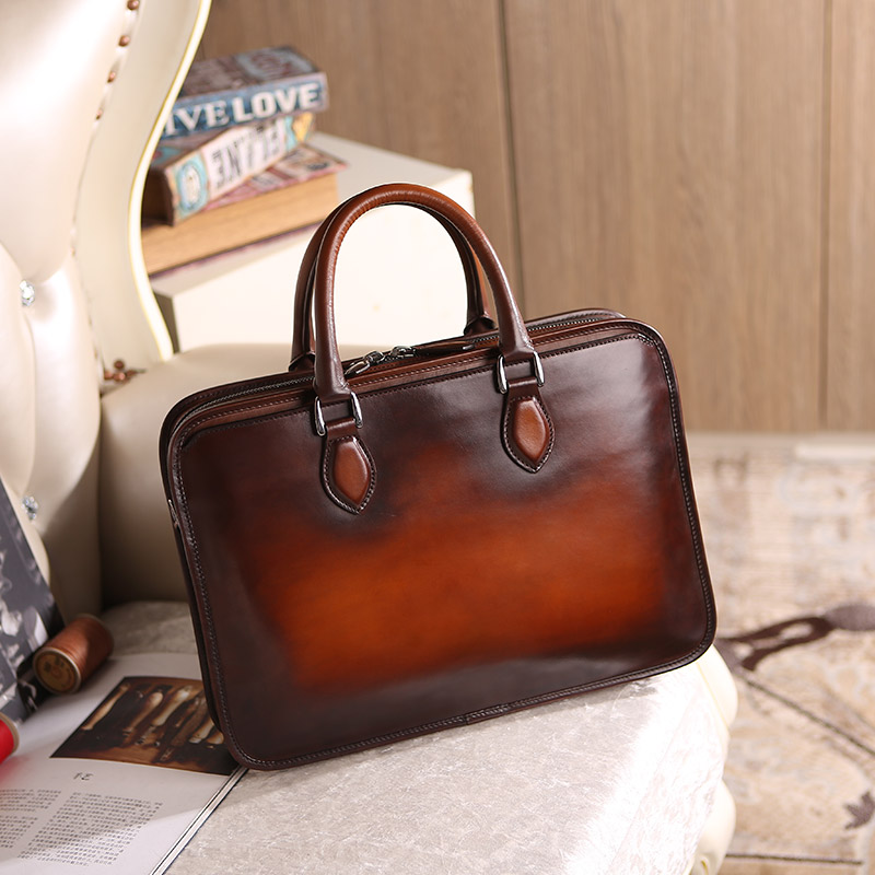 Italian Leather Briefcase   Laptop Bags brown Designer mens leather  briefcase wholesale ... 406614e903