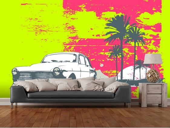 Custom art wallpaper,Retro Car, 3D retro wallpaper for the living room bedroom kitchen background wall waterproof wallpaper<br>