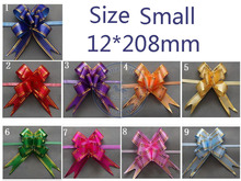 Size Small 12*208mm Pull Bows Ribbons Flower Gift Wrapping Wedding Party Decoration Pullbows multi color option(China)