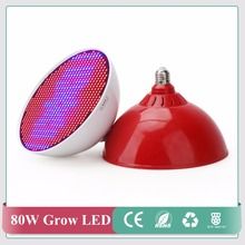 New hydroponics lighting AC85-265V 80W E40/E27 RED/BLUE SMD 800 LED Hydroponic LED Plant Grow Lights free shiping