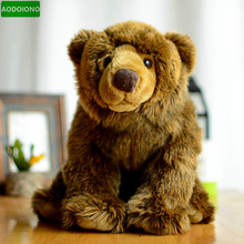 Brown Bear Kids Plush Toys Lifelike Grizzly Bear Simulation Stuffed Animals Dolls Lovely Children Gifts Cute Chrismas Presents