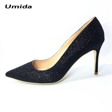 Umida Brand Designer Women Shoes 12cm Women Pumps Plus Size 33-44 High Heels Sexy Pointed Toe High Heels Wedding Shoes Heels