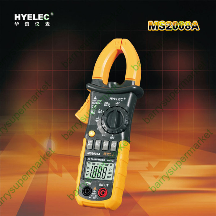 HYELEC better than Mastech MS2008A equal to FLUKE F302 alicate Multimetro multimeter clamp meters 2000 Counts<br>