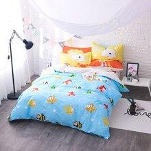 Cute Cartoon Color Clown Fish Pattern 4Pcs Queen Size Bed Linen Set Bedding  Set Sale Bedclothes
