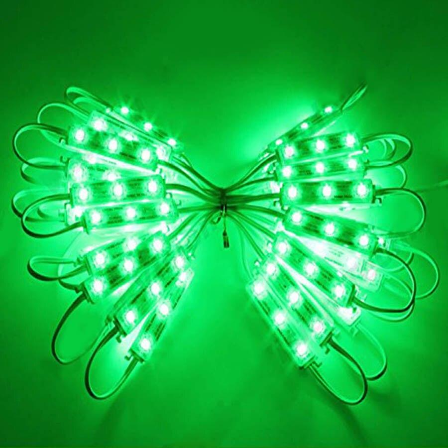 20PCS 3LEDs SMD 5050 LED Modules Light DC12V Waterproof Lamp Backlight for Billboard Advertising Light Warm White Red Green Blue (31)