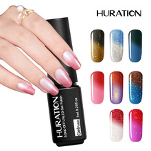 Huration Lucky Thermal Change Hybrid Temperature Changing 29 Color Soak Off Gel Varnish Nail Polish UV LED Gel Lacquer(China)