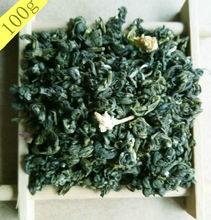 Fujian Jasmine green tea small Biluochun whorl 100g Mingqian spring tea fragrant flower for health keeping food