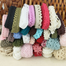 Mixed random delivery 50 yards / lot lace garment sewing fabric decorative cotton crochet lace ribbon handmade jewelry process(China)