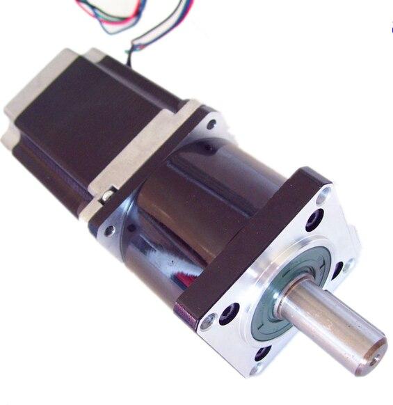 57mm Planetary Gearbox Geared Stepper Motor Ratio 5:1 NEMA23 L 112mm 4.2A<br><br>Aliexpress