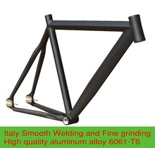 Crazy Price 52/55CM Smooth Welding Aluminium Alloy Fixie Fixed Gear Frame Track Bike Bicycle Parts Free shipping