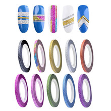 10 Colors Rolls 3mm Striping Tape Line Rough Styles Nail Art Tips Decals  2017 Hot product discount beauty