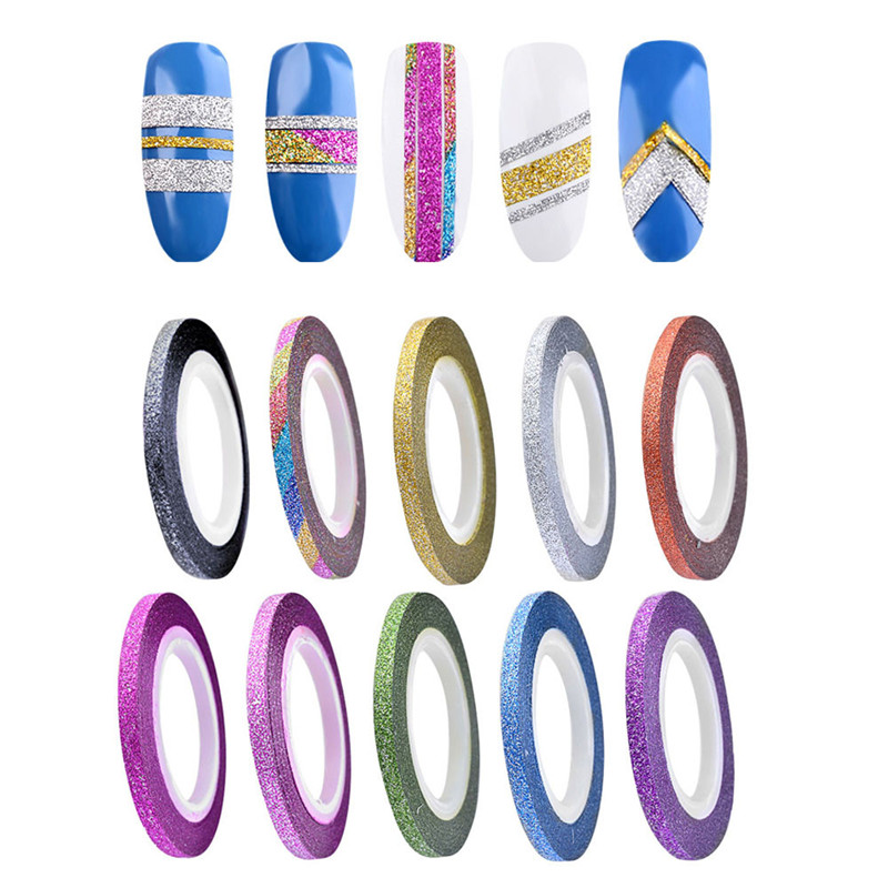 10 Colors Rolls 3mm Striping Tape Line Rough Styles Nail Art Tips Decals 2017 Hot product discount beauty(China (Mainland))