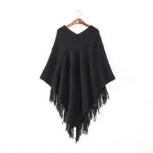 Women Batwing Cape Poncho Knit Top Ladies Pullover Sweater Coat Outwear Jacket Hot