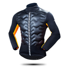 2017 Men Thermal Cycling Jacket Winter Warm Up Bicycle Clothing Windproof Long Sleeve Thermal Sports MTB Bike Jackets(China)