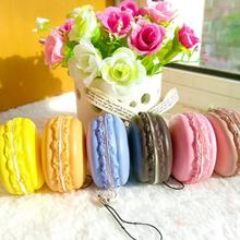 JETTING 1PC Kawaii Soft Dessert Macaron Squishy Cute Cell phone Charms Key Straps random color