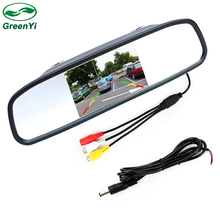 "4.3"" TFT LCD Auto Parking Rear View 4.3 Inch Car Mirror Monitor With 2 Video input For Rear View Camera Parking Sensor"