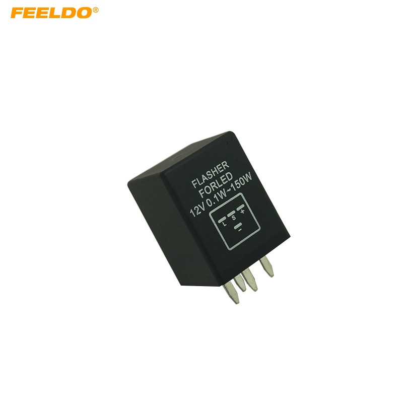 FEELDO 5Pcs 4-Pin car Motorcycle Electronic LED flashers Turn Signal Relay Fix flasher  #FD-5352(China)