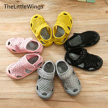 2017 summer new Fashion girls boys shoes Net cloth children school Flat sandal sneakers sandy beach Super soft and comfortable(China)
