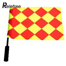Relefree 1Pcs The World Cup Soccer Referee Flag Sports Match Linesman Competition Equipment