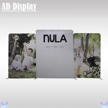 Custom Size 640cm Width Stretch Fabric Display Wall With One Side Printed Banner,Portable Advertising Fabric Backdrop Stand