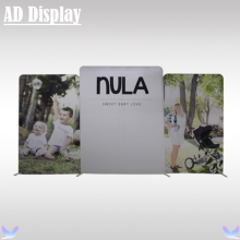 Custom Size 640cm Width Stretch Fabric Display Wall With One Side Printed Banner,Portable Advertising Fabric Backdrop Stand(China)