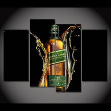 4 Pcs/Set Framed HD Printed Johnnie Walker Bottle Poster Picture Canvas Print Home Decor Modern Oil Painting Artworks(China)