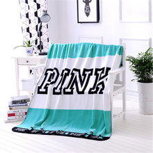 130x160cm Kintted Blankets For Beds Pink Blanket Manta Throw Coral Fleece Blanket Sofa/Plane Travel Plaids Bedding Towel Set