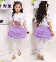 New fashion girls tutu skirts tulle layered Ballet Tutu  childrens skirts casual candy color skirt kids clothing for girls Dance