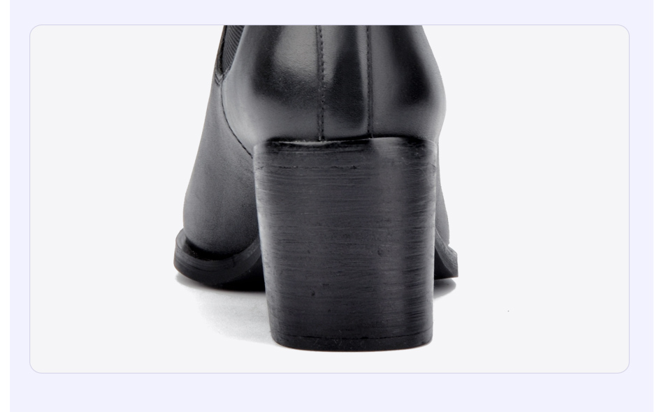 Donna-in 2017 new style genuine leather ankle boots pointed toe thick heel chelsea boots calf leather women boots ladies shoes 96350-17 (11)