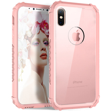 New for iPhone X Clear Hard Case,Heavy Duty Durable Shockproof Phone Cases PC+TPU Full Body Protector Cover for iphone X (2017)(China)