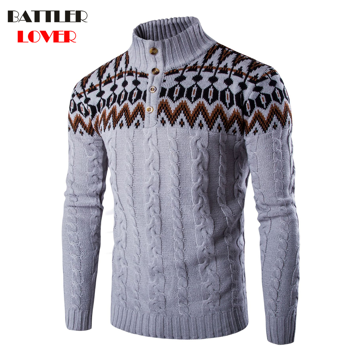 Mens Sweaters Men Winter Thick Warm Clothes Casual Long Sleeve Slim Jacket Coat Jumper Autumn Men Outwear Sweater 2018 Pullovers