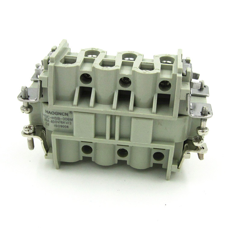 HDC-HSB-006M/F Heavy Load Connector 6 Core 35A Rectangle Connector Within Core Heat Flux Avenue<br>