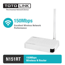 TOTOLINK N151RT-150Mbps Wireless N Router with One high gain detachable antennas support DHCP/PPPoE/Static IP(China)